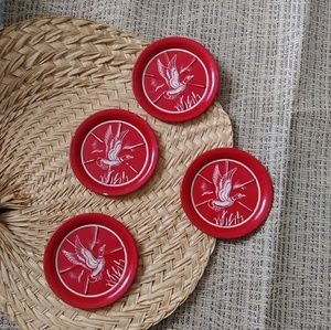 Other - SALE 3/$12Eclectic red tin duck coasters